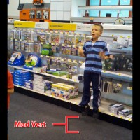Future Hardcore Gamer Falls Over At Best Buy Little Kid
