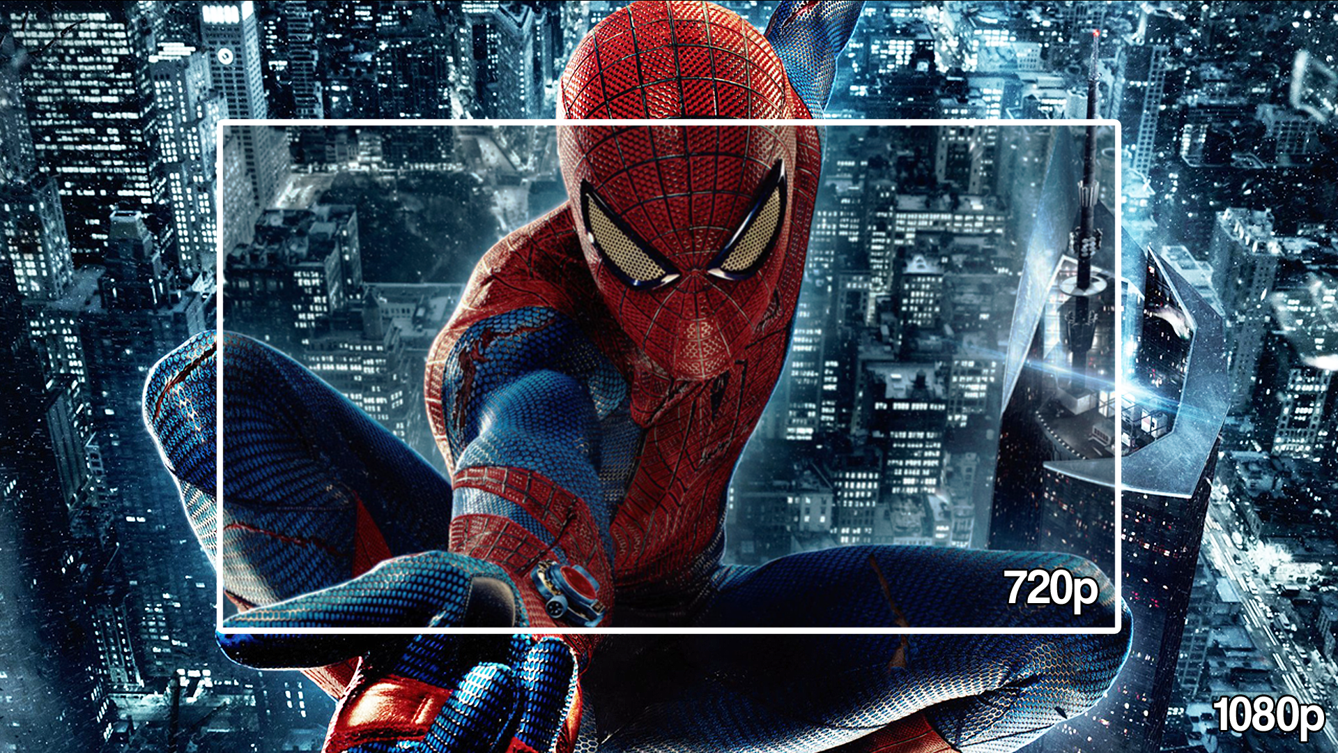720p vs 1080p Amazing Spider-Man Demo